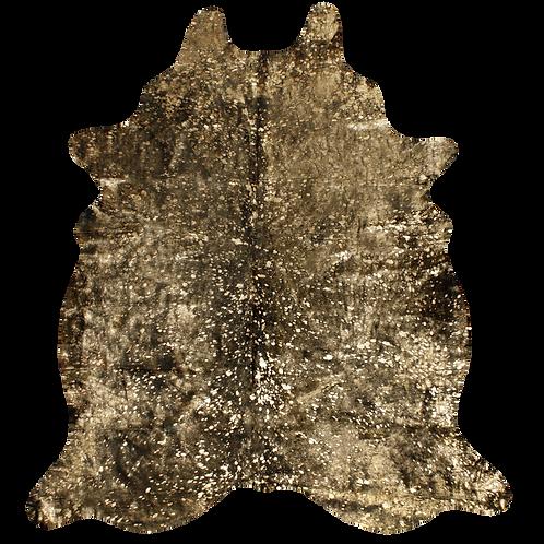 Cowhide Metallic Gold/Dyed Black