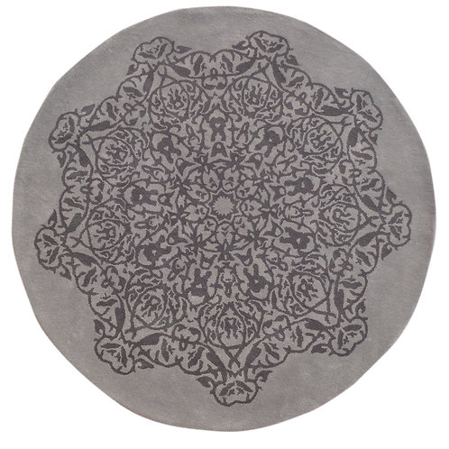 Medallion Grey/Charcoal 210cm Round Floor Rug