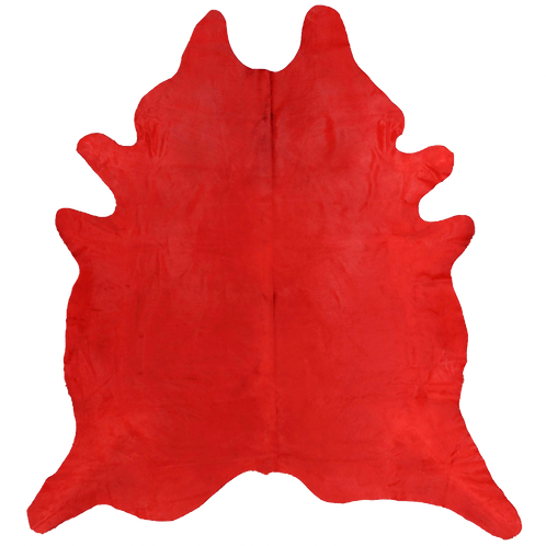 Premium Cowhide Dyed Red