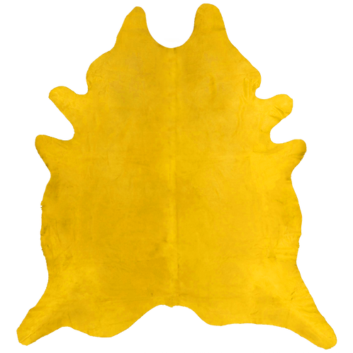 Premium Cowhide Dyed Yellow