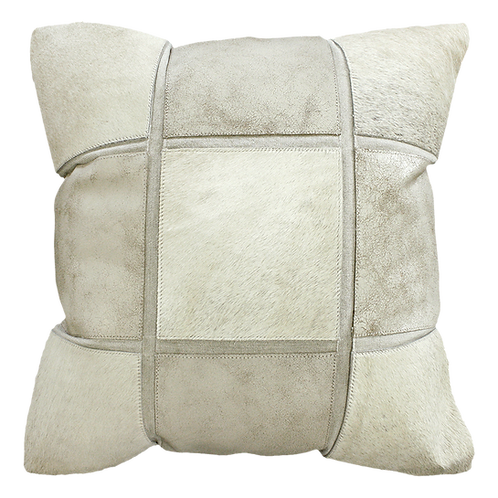 Del Rio Check Cowhide Cushion Cover