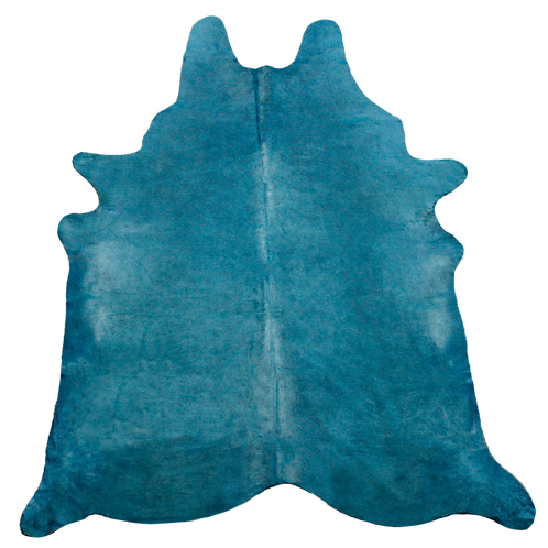 Premium Cowhide Dyed Turquoise