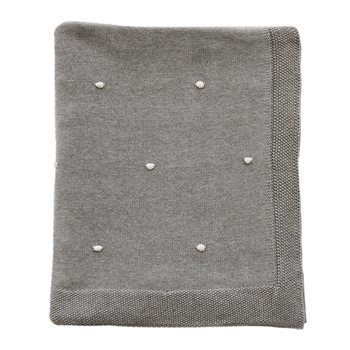 Agne Light Grey Throw