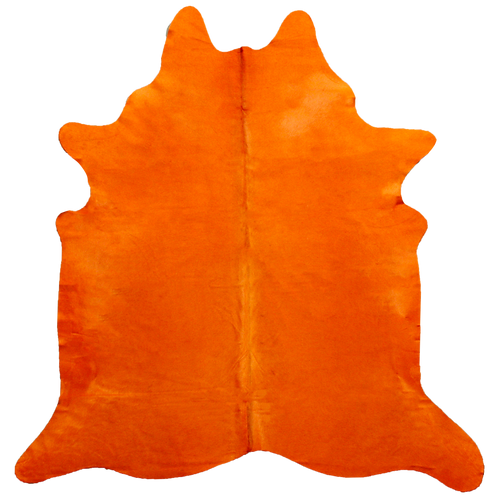 Premium Cowhide Dyed Orange
