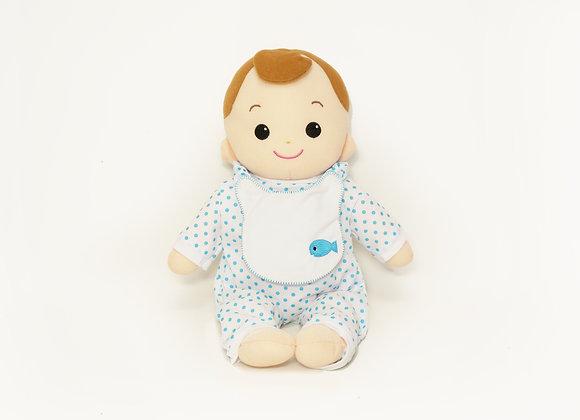 洗える赤ちゃん 男の子 水玉(ブルー)