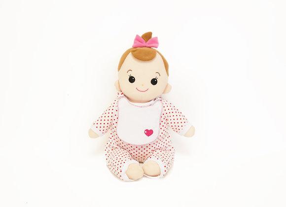 洗える赤ちゃん 女の子 水玉(ピンク)