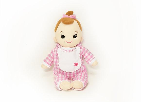 洗える赤ちゃん 女の子 ギンガムチェック(ピンク)