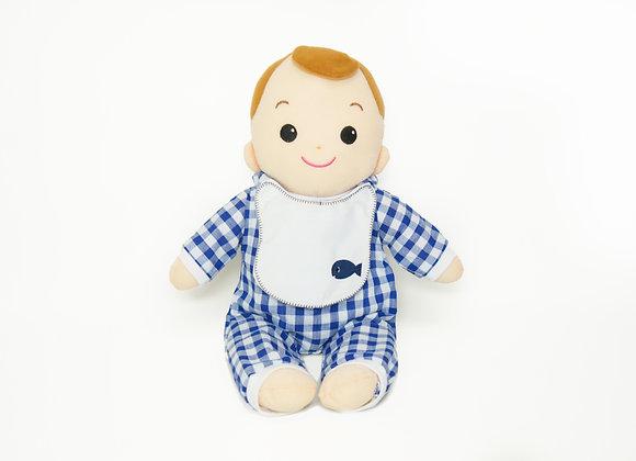 洗える赤ちゃん 男の子 ギンガムチェック(ブルー)