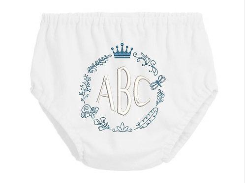 Monogram diaper covers