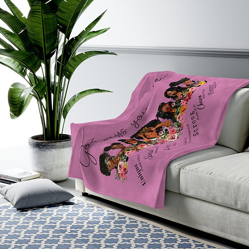 """""""God Says you are"""" Throw Blanket (pink)"""