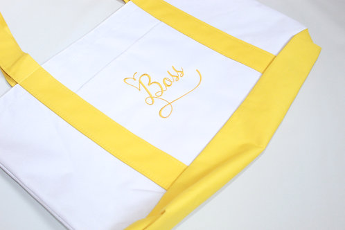 """Embroidered Tote """"Boss"""""""