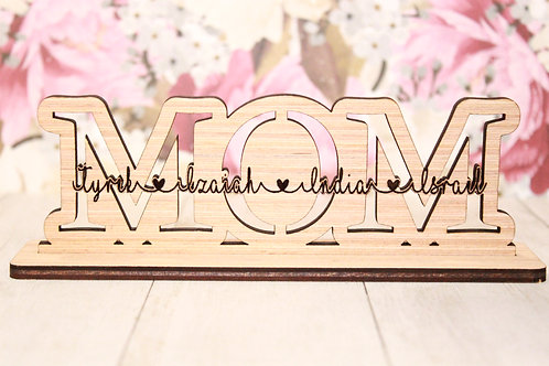 MOM sign and Keychain