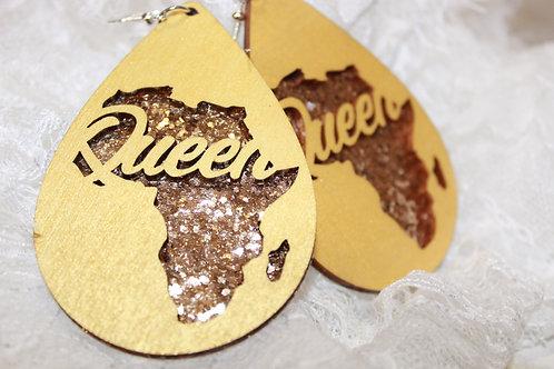 Queen Africa Glittered Earrings