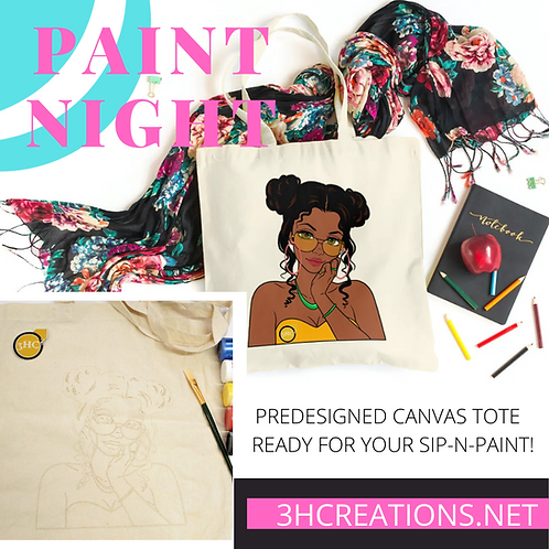 PAINTABLE CANVAS TOTE KIT