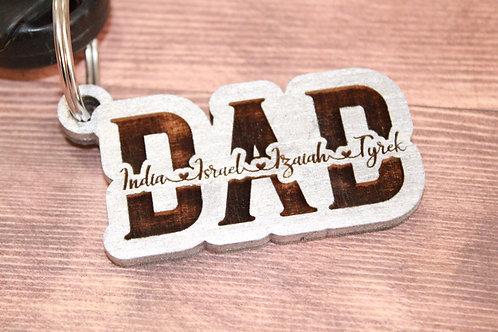 Dad wood Keychain