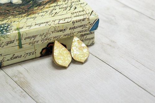 Golden Sparkle studs