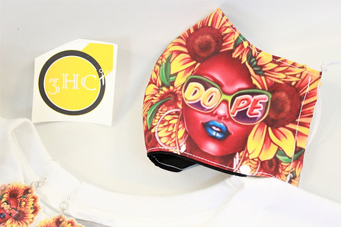 Afro Sunflower Mask