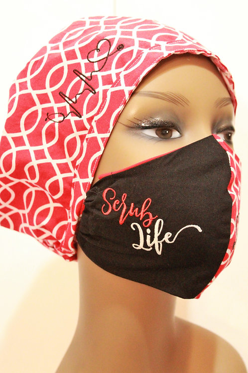 """Life"" Cap and Mask set (Personalize)"