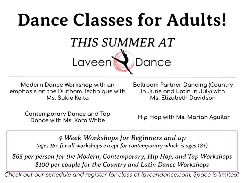 Adult Dance Class Offerings