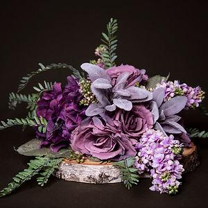 Lilac Floral on Log Slice 3.jpg
