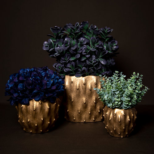 Gold Dimple Vase Collection