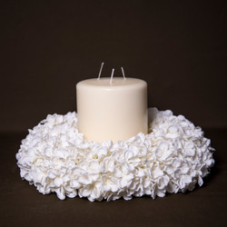 Hydrangea Wreath with Candle.jpg