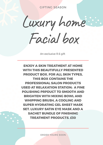 Luxury Facial at home