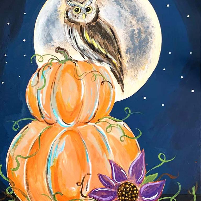 Halloween pumpkin and owl