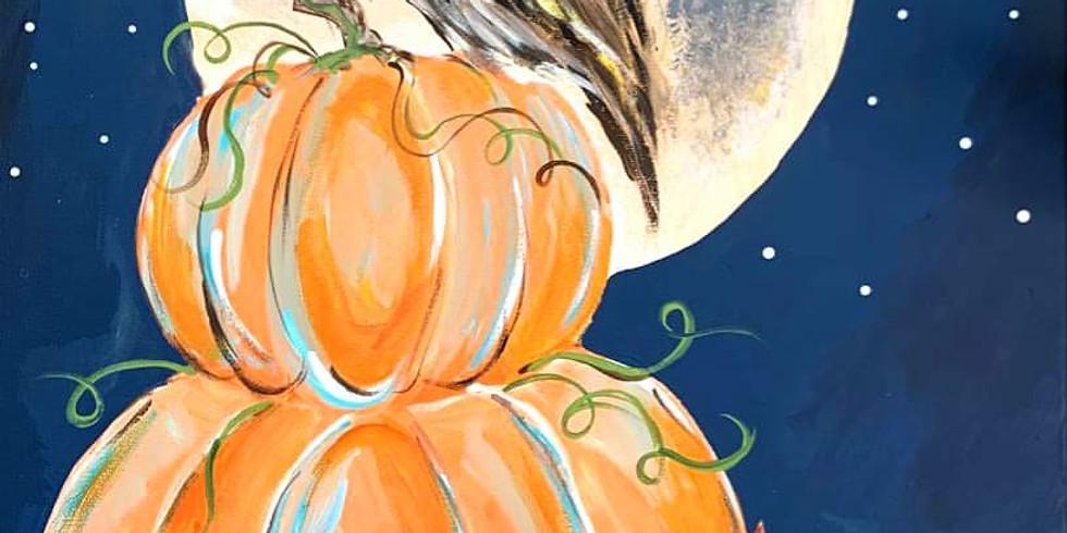 Pumpkin and owl on Hallloween