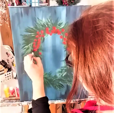 Amy Painting Wreath