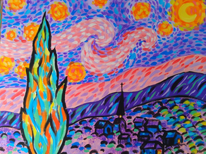 Paint Starry Night with a Twist