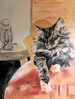 Cat Portrait Painting