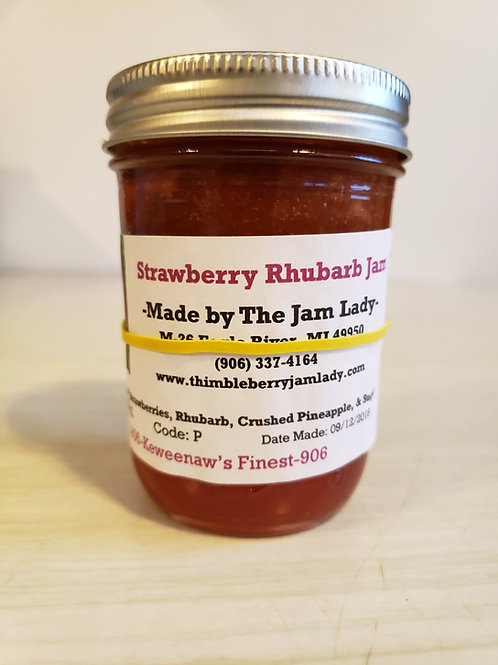 Strawberry Rhubarb Jam *Pint Size Only*
