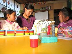 MARGOT teaching to read to small children