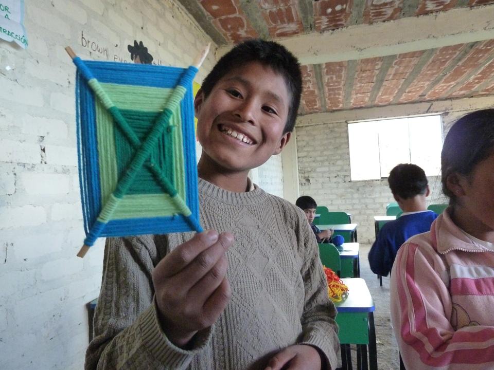 weaving boy