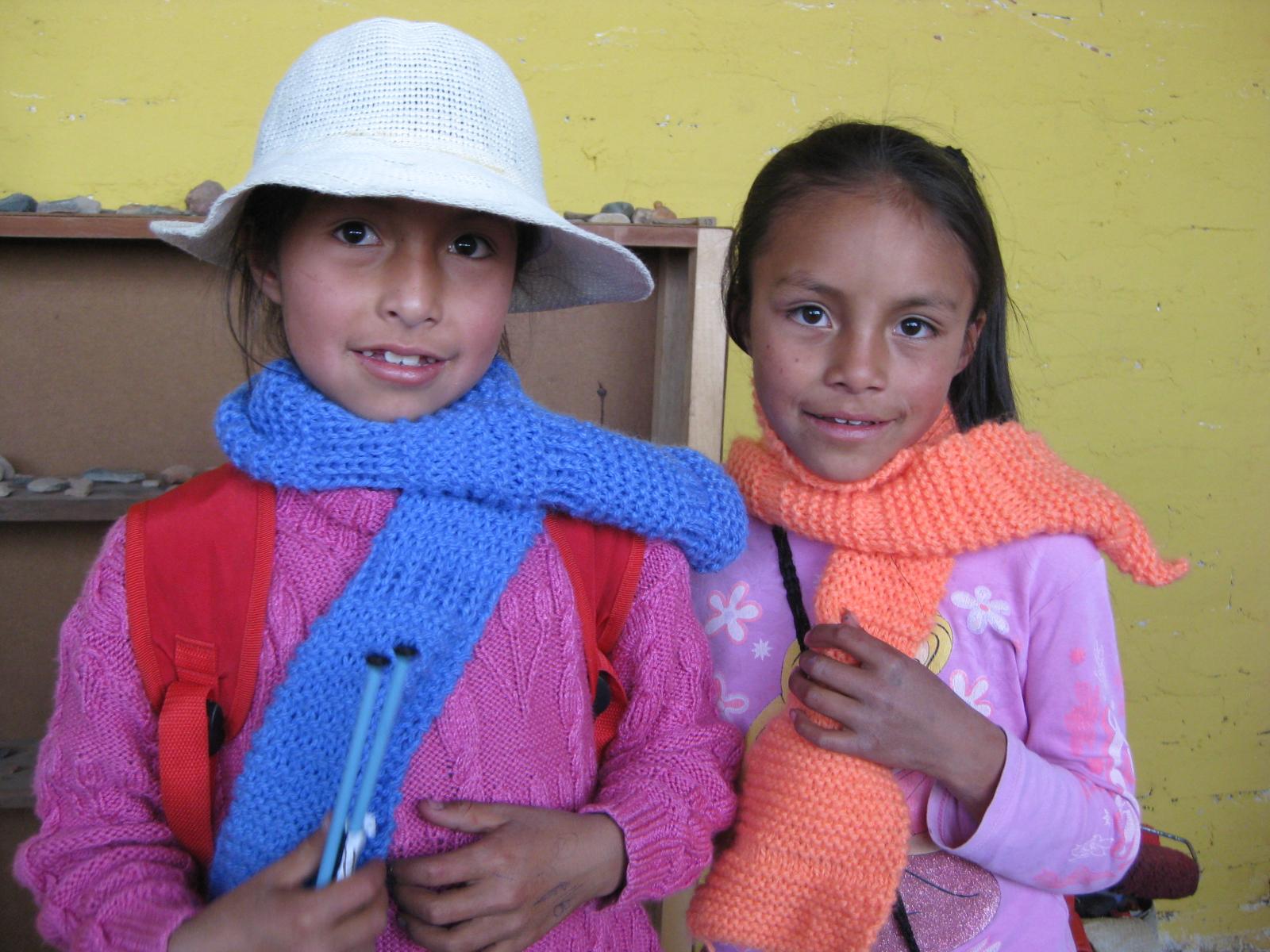 volunteer teach to them for weaving
