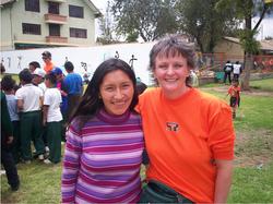 Elizabeth with volunteer