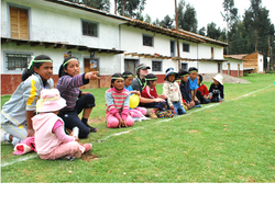 children in a sports day