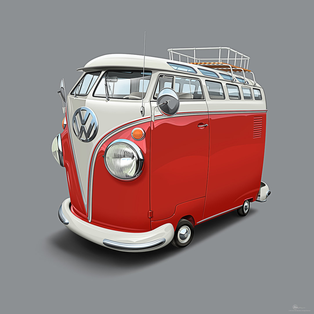 Vintage Volkswagen T1 Samba Bus