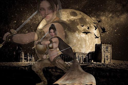 Warrior woman yoga workshop