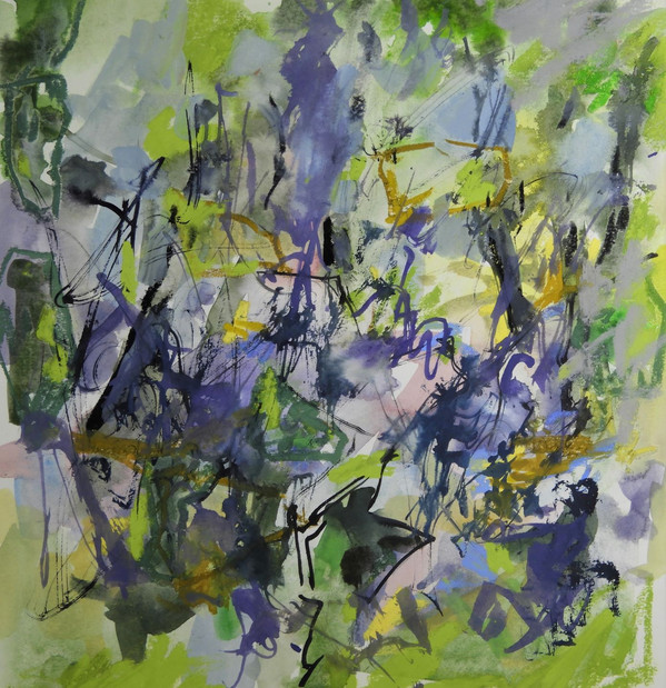 Bluebell Wood, mixed media