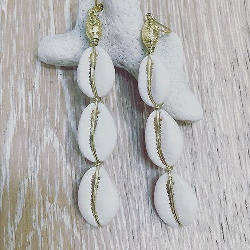 Cowrie Drop Earrings