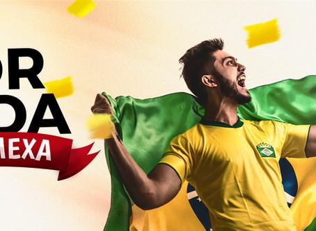 Torcer pelo Brasil no Palato é all-inclusive!