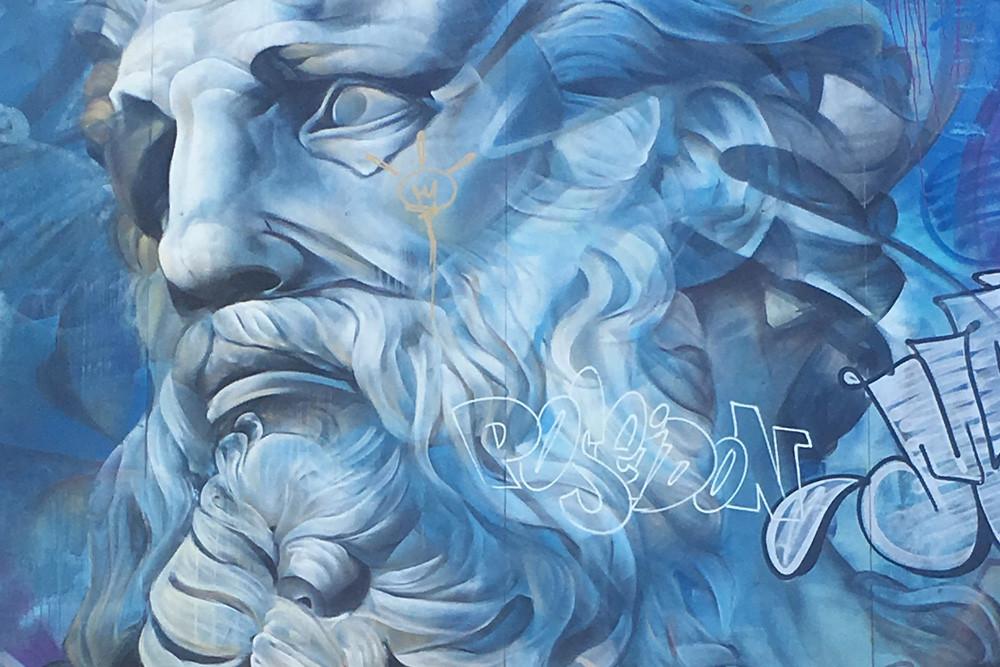 Wynwood Walls mural by a street artist.