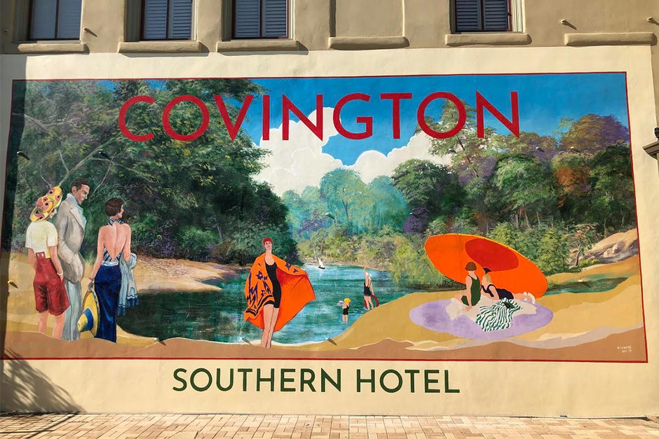 The Southern Hotel Poolside Mural