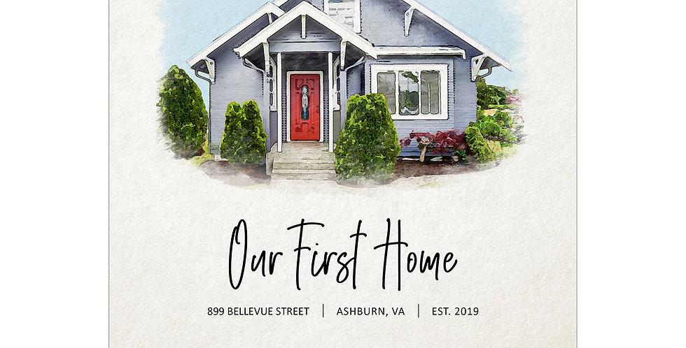 Digital Download House Portrait