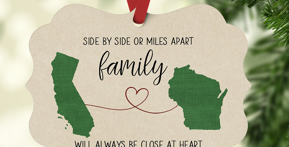 Long Distance Family Ornament