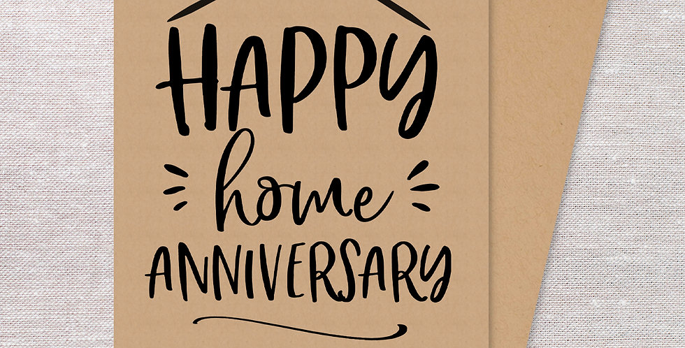 Happy Home Anniversary folded cards