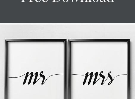 Mr. & Mrs. Free Printable Art