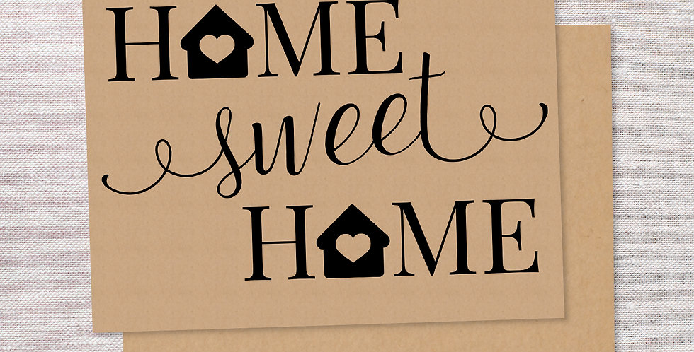 Home Sweet Home folded cards